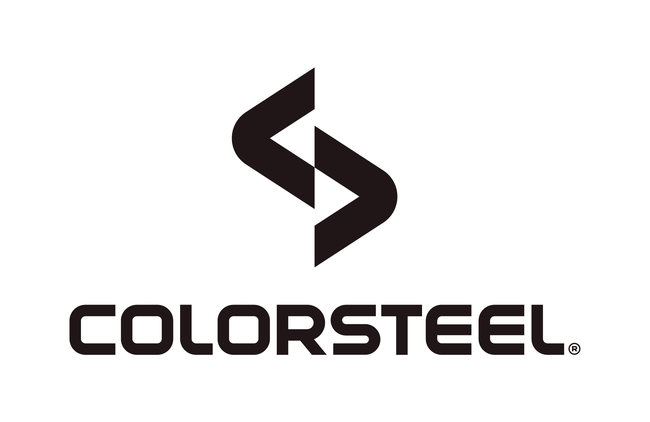 Colorsteel Logo Lockup Vertical Stacked AW Ironsand RGB